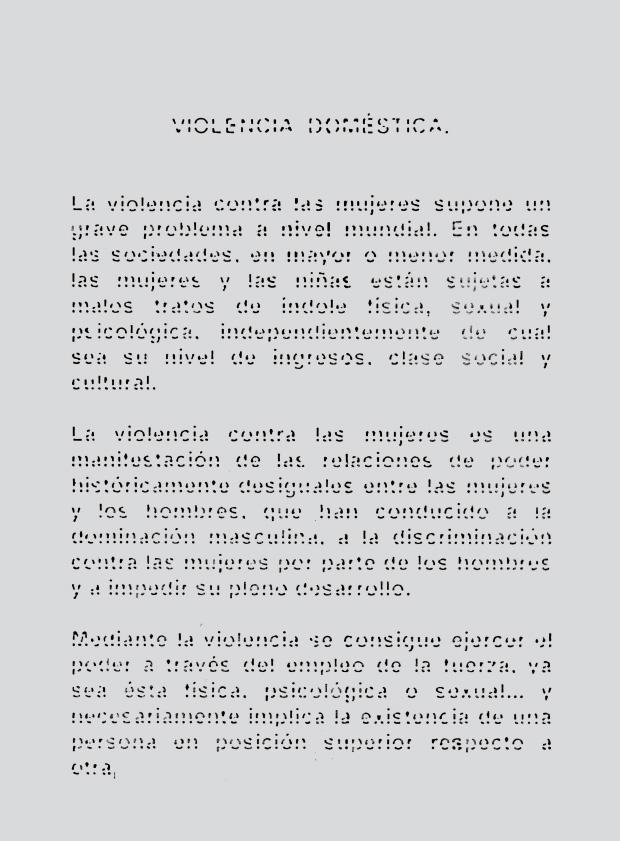 Diseño tipografía contra violencia de género