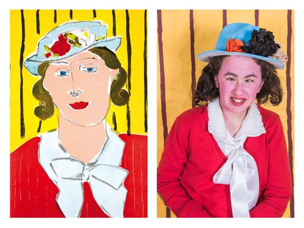 Woman red Lithograph Matisse Calendario 2017 CEE torrepinos