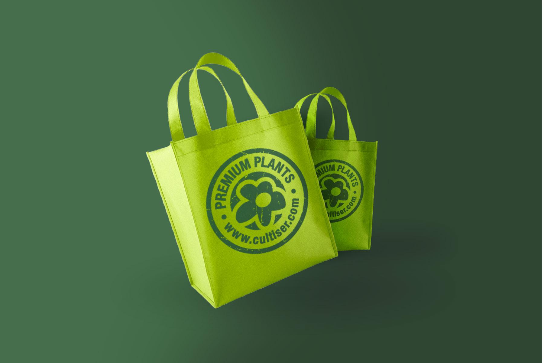 Merchandising bolsa tela vivero valencia