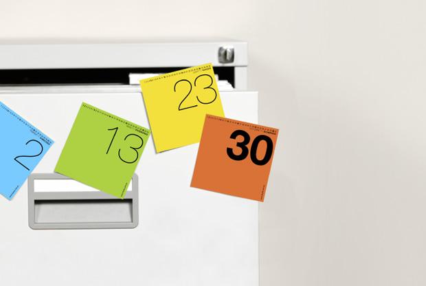 Calendario Post-it