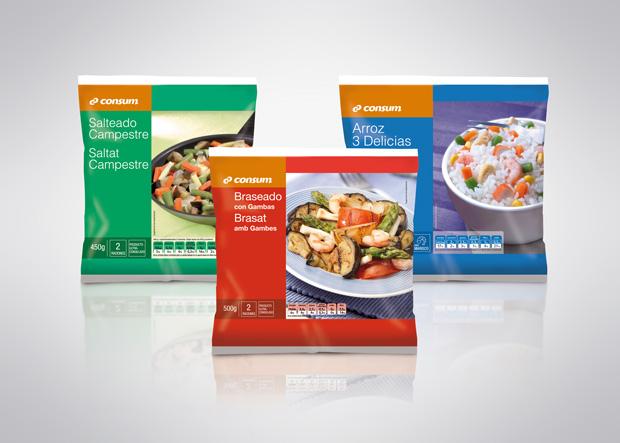 packaging o envase congelado supermercado consum diseño duplo comunicacio grafica
