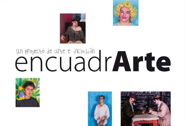 marca logotipo encuadrarte colegio torrepinos proyecto de arte e inclusion
