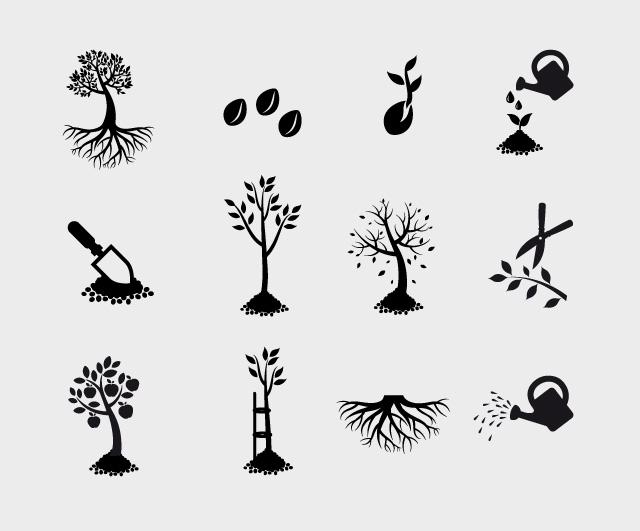 Diseño iconos empresa diseño