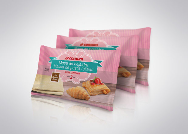 packaging o envase masa hojaldre consum diseno Duplo Comunicacio Grafica