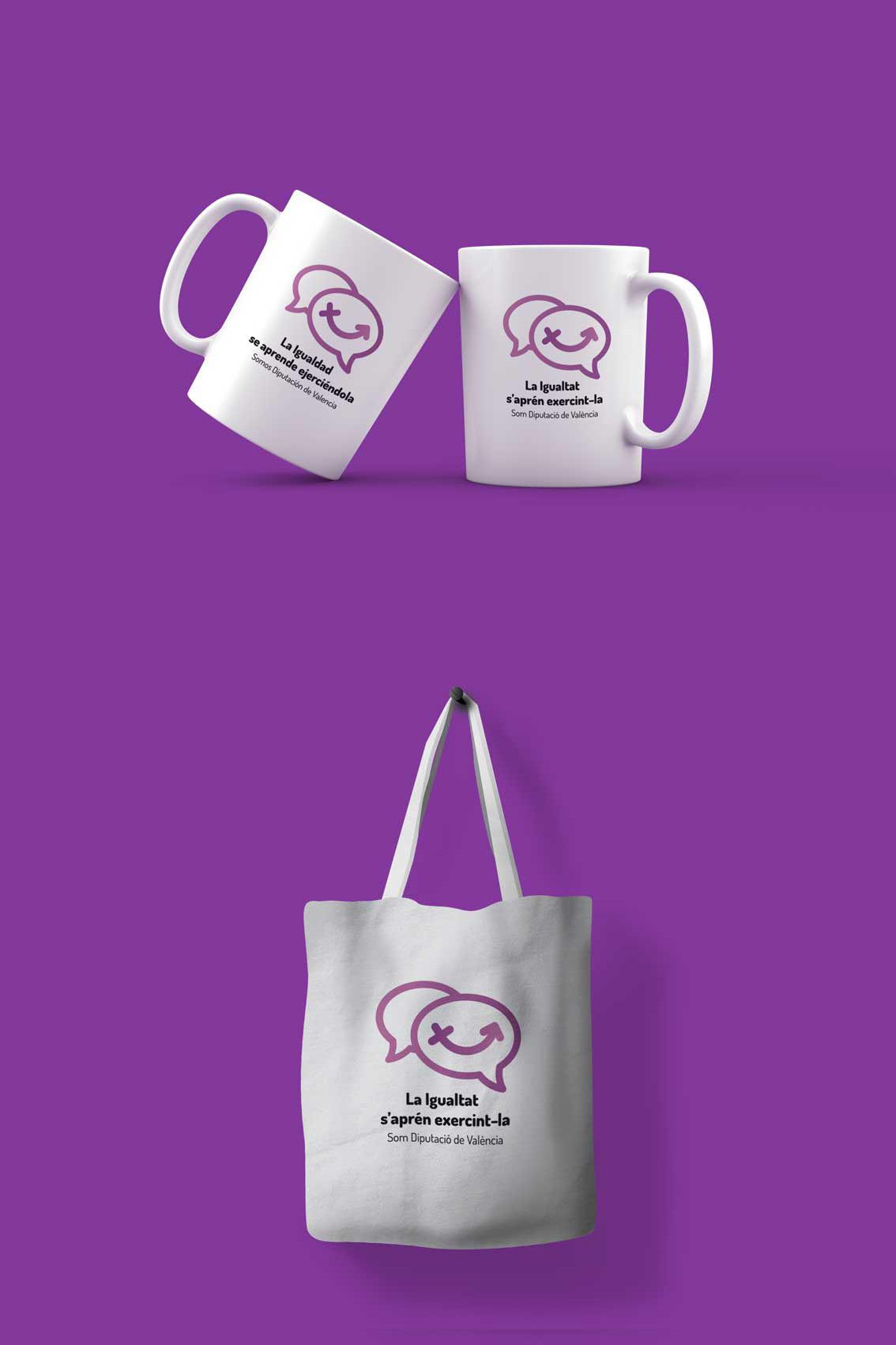 taza y bolsa plan de igualdad diputacion de valencia